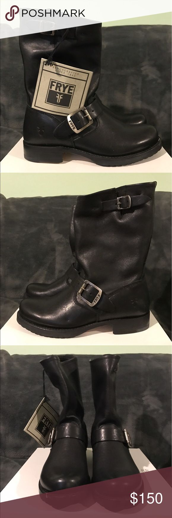 NWT Frye Veronica Engineer Boots - size 5.5 New with tags, Frye Veronica Engineer boots. Gorgeous black leather. Does not come with a box. Frye Shoes Combat & Moto Boots