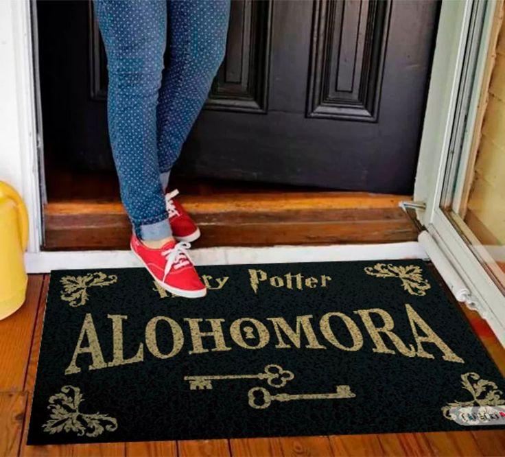 tapete capacho divertido porta apartamento casa harry potter