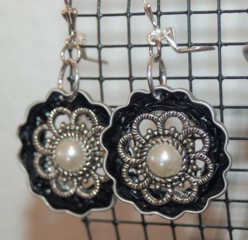 Nespresso Ohrringe Blume mit Ornament