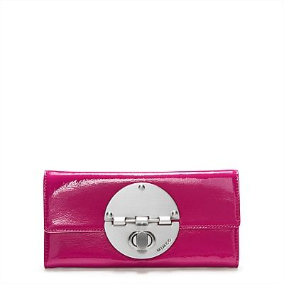 Large Turnlock Wallet, mimco, own it, love it, hot pink, turnlock wallet, purse
