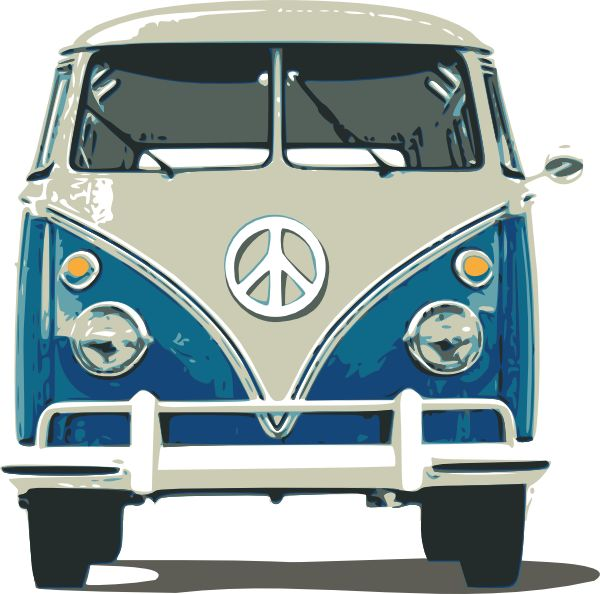 Vw Bus Clip Art At Clker Com   Vector Clip Art Online Royalty Free
