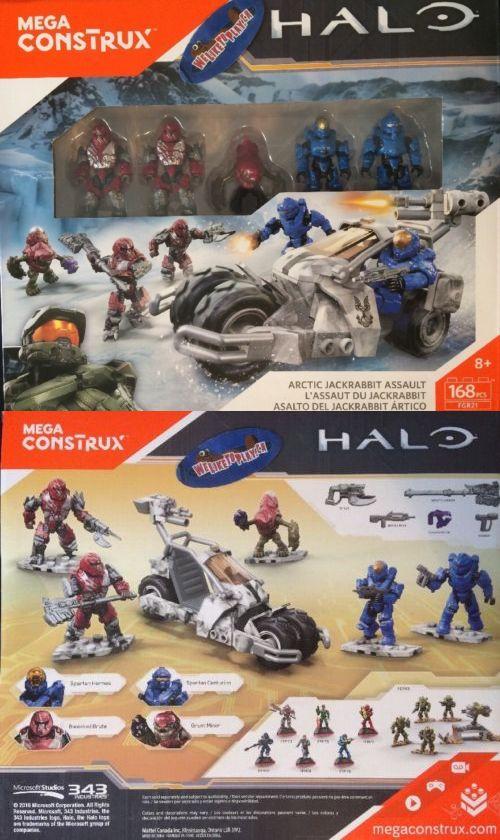 Mega Bloks 52338: Extremely Rare Halo Mega Bloks Construx Arctic Jackrabbit Assault 168 Pcs -> BUY IT NOW ONLY: $49.99 on eBay!