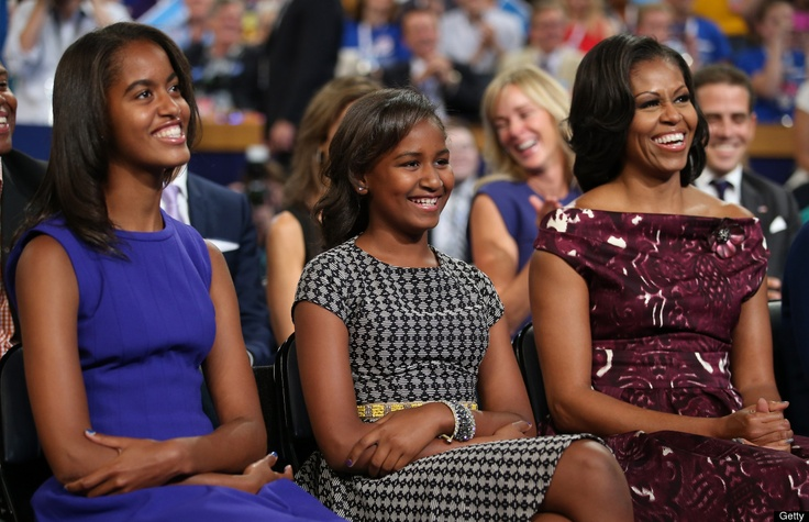 Malia And Sasha Obama Are Beyond Adorable At 2012 Democratic Convention (PHOTOS)Malia Obama, Lady Michele, Growing Up, Michelle Obama, Presidents Barack, Michele Obama, Families, First Lady, Barack Obama