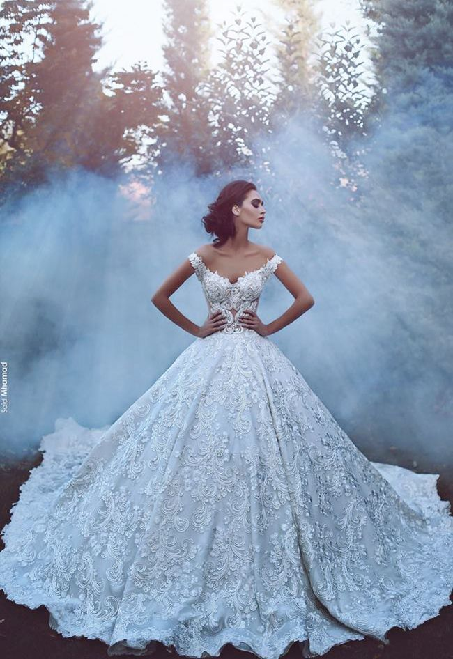 ~ Dramatic Embroideries Never Disappoint, from Toumajean Couture ~ community.praisewedding.com