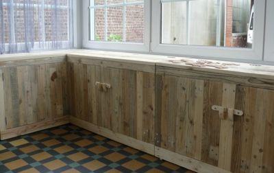 Blog de davidgastout :les totems de david, Aménagement meuble bas en palette.