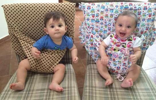 Funda para silla con seguridad para el bebe