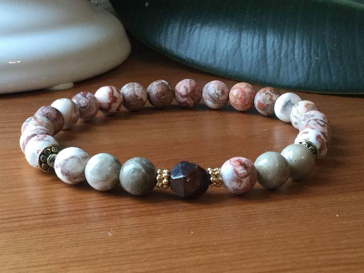 Bracelet pour homme, Agathe, corail, grenat, pierres semi précieuses ,cadeau hommes, lapis-lazuli,litho, méditation, mala