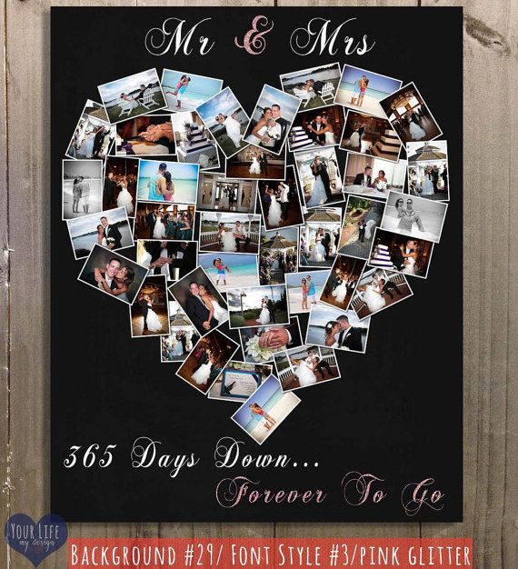 Wedding Anniversary Gifts For Husband: First Anniversary Gift, Anniversary Photo Collage