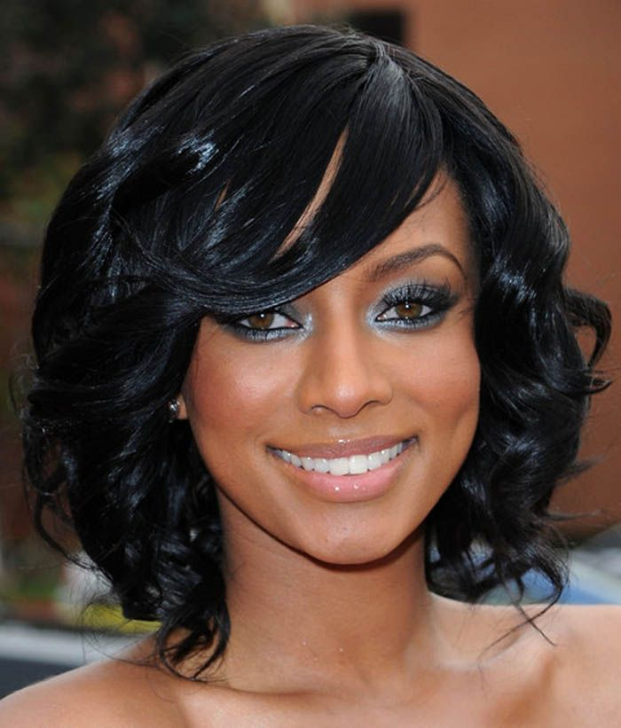 Curly Medium Black Hairstyles ~ http://wowhairstyle.com/
