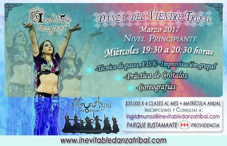 Curso de Danza del Vientre Tribal Marzo 2017 Inscripciones a ingridmunoz@inevitabledanzatribal.com