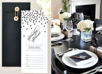 It's that time of year again - Twig & Thistle has made some new dowloadable templates {FREE} for this year's Oscars Party, complete with invitations, voting ballots, and other specialized items. Done in a black and white color palate these printables are perfect for any decor. Head over to get