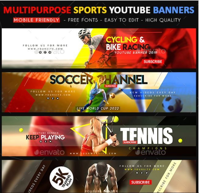 40+ YouTube banner template psd For Channel Art | PSD