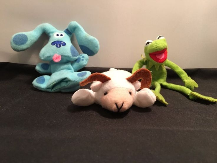 Plushie Collectors Set – 3 Small plushies -  Kermit the Frog; Blue; White Goat in Collectables, Toys, Other Toys | eBay!