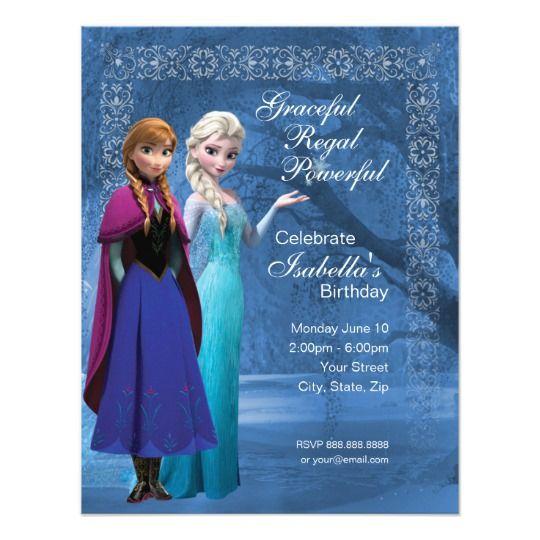 Frozen Anna And Elsa Snowflake Birthday Invitation Frozen Birthday