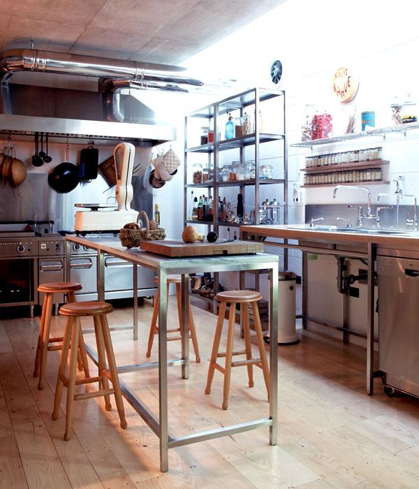 Best 25 industrial restaurant ideas on pinterest for Cafe kitchen ideas