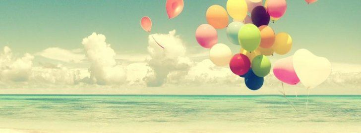 Globos En La Playa Portadas para Facebook - Portadas para Facebook , Imágenes…