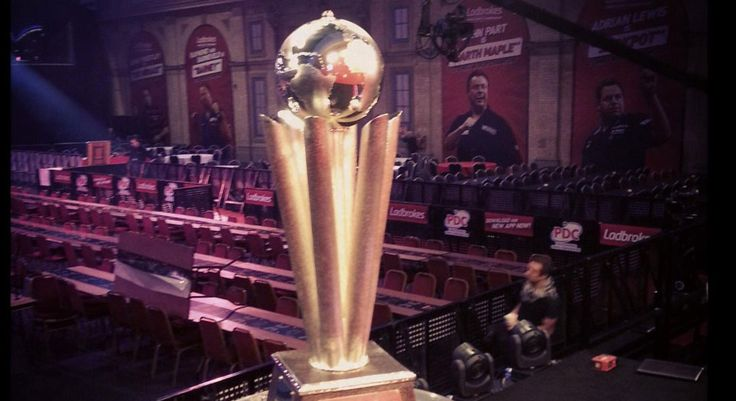 We produced the Globe piece for the William Hill World Darts Championship Trophy!  #trophy #darts #ukmfg #mfg #williamhill #competition #world
