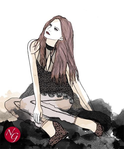Leo, that's all  #fashion #illustration   http://www.nefergarden.com/2013/01/14/leo-thats-all/