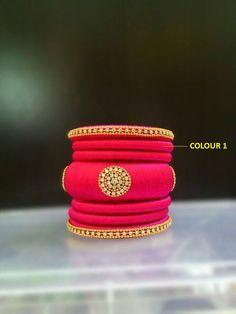 Pink Designer Bangle Set