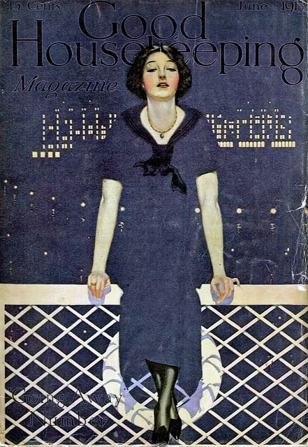 """""""Going Away""""    Cover for Good Housekeeping magazine June 1913"""