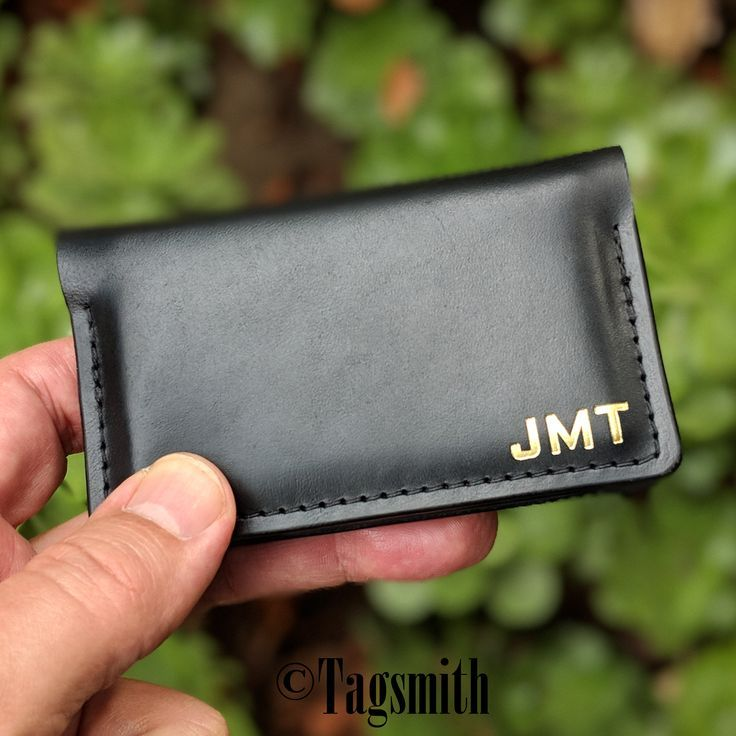 Leather Business Card Holder New Job Promotion Gift For Men Etsy Leather Business Cards Leather Business Card Holder Handmade Gifts For Friends