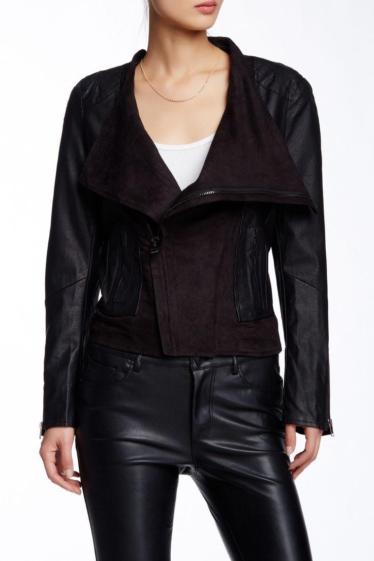 Leather jacket nordstrom rack - Tov Pleated Asymmetrical Faux Leather Jacket Faux Leather Jacketsnordstrom Rackcasualcoatsshops