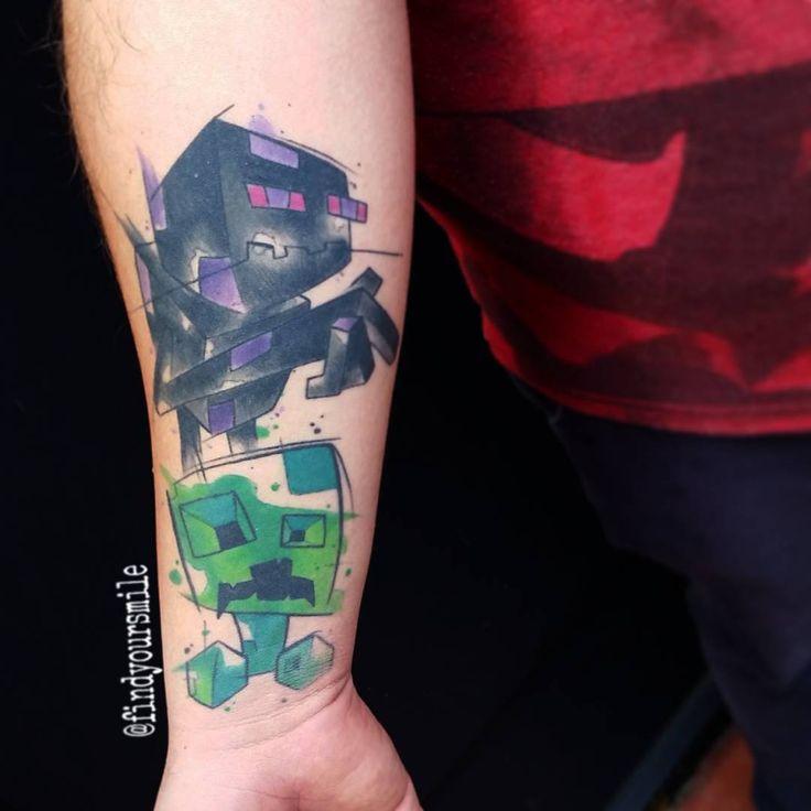 love it tattoo ideas pinterest creepers tattoo and watercolour tattoos. Black Bedroom Furniture Sets. Home Design Ideas