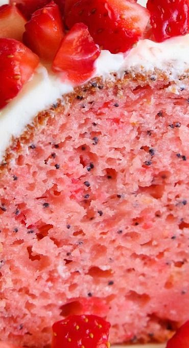 Strawberry Poppy Seed Bundt Cake
