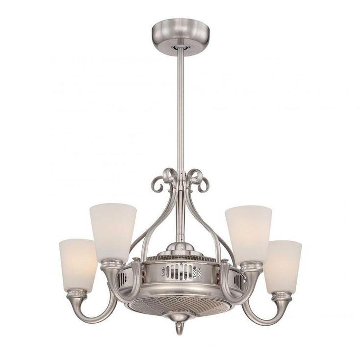 Indoor Satin Nickel Ceiling Fan