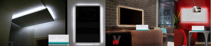 Sehr stimmungsvoll, besonders jetzt in der dunklen Jahreszeit, ist die LED Beleuchtung für infranomic Infrarotheizungen: Ab Werk fertig montierte stimmungsvolle LED Beleuchtung, rückseitig auf der Infrarotheizung montiert. Inklusive Netzteil 12V/2A, Ein/Aus Schalter und Ministecker. Die LED Beleuchtung kann in den angebotenen Varianten zu jeder Infrarotheizung für Wand- und Decken Befestigung bestellt werden. Separat schaltbar. Betätigung auch mit Lichtschalter möglich.