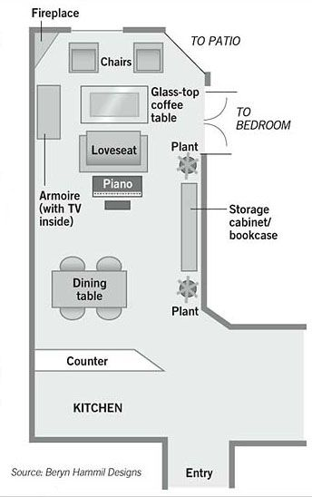 Furniture Arrangement In Long Narrow Room
