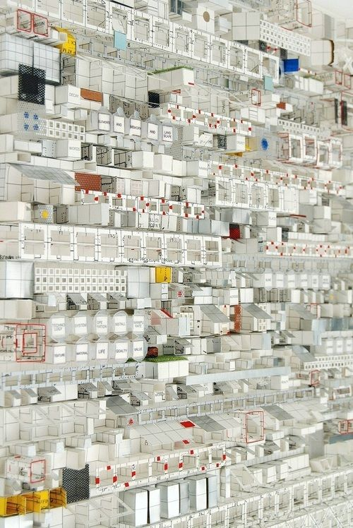 Architectural paper sculptures by Katsumi Hayakawa