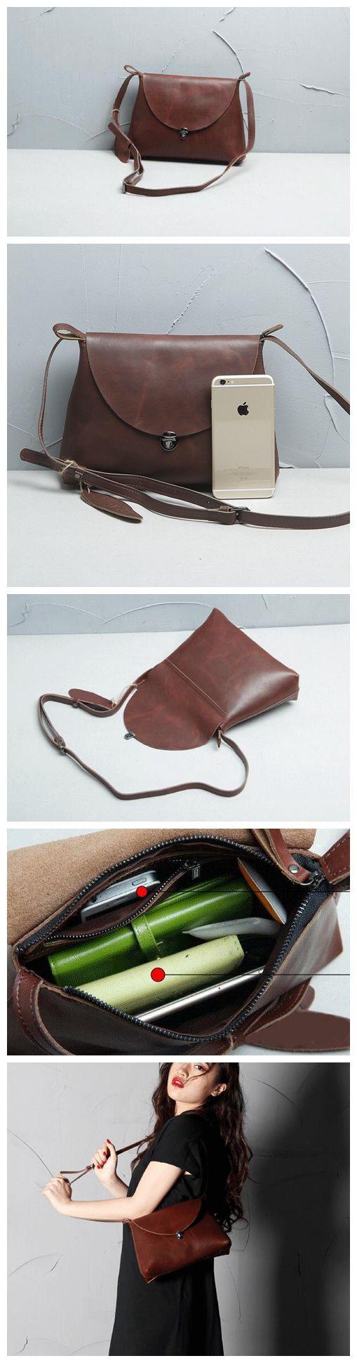 Women Messenger Shoulder Bag, Leather Satchel Handbag Tote Messenger Bag
