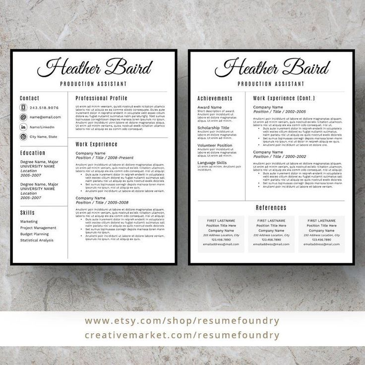Bold and modern resume template for word 13 page resume