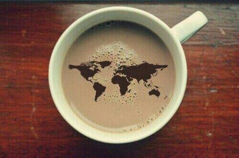 세계지도 커피