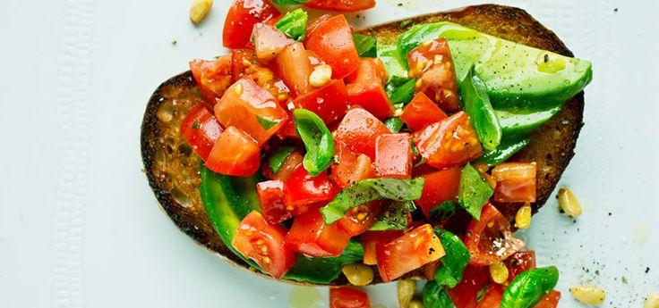 Bruschetta medavokado og tomat | Oppskrift på Lises blogg