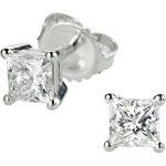 Princess Cut Diamond Stud Earrings (1.00 ctw) Platinum