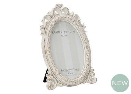 Cream Oval Photo Frame at LAURA ASHLEY