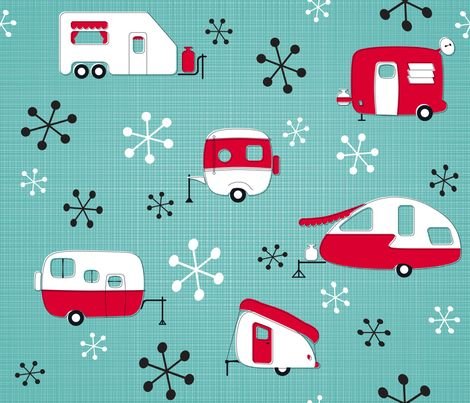 Red.neck.chic this made me think of you. :).........Julie's Campers fabric by…