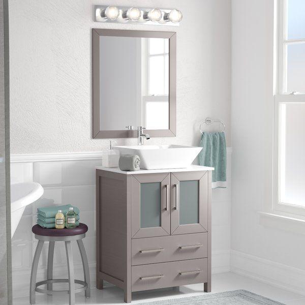 Knutsen 24 Single Bathroom Vanity Set With Mirror Lavatory Design Vanity Set With Mirror Single Bathroom Vanity