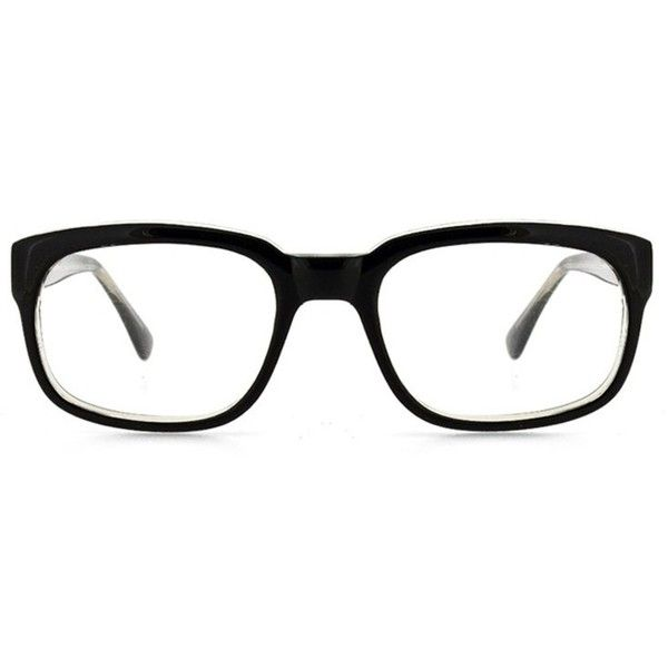 GlassesUSA Pioneer ($68) ❤ liked on Polyvore featuring accessories, eyewear, glasses, black, sports glasses, square frame glasses, acetate glasses, sports eyewear and sport glasses