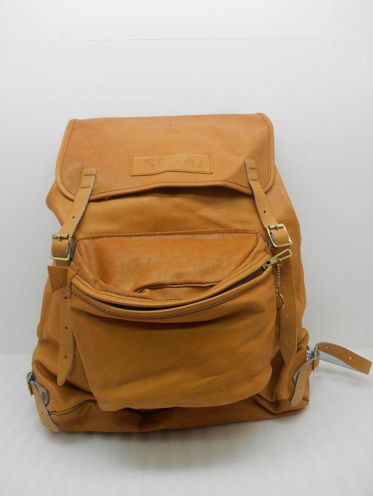 Vintage Beckmann Sekk All Leather Backpack (# 13847)