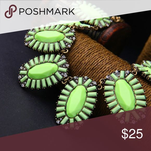 Green Statement Necklace Eye popping green statement necklace is sure to be the star of any outfit. Dress up or down. MGS Accessories Jewelry Necklaces