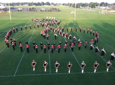 Treble Clef Band - SO AWESOME!! Found this - it is the MSHS Band!!! My daughter is in this picture!!!
