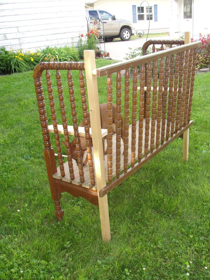 Two Garden Benches Made Using A Jenny Lind Crib Crib To