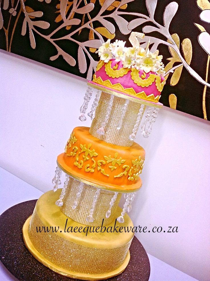 Colorful tropical cake for heart foundation 5 th anniversary