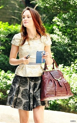 Blair Waldorf: Summer Fashion, Blair Style, Peplum Tops, Blair Waldorf, Leighton Meester, Alice Olivia, Cute Skirts, White Tops, Gossip Girls
