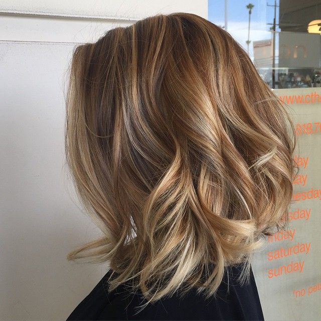 33 Trimmed and Layered Wavy Bobs