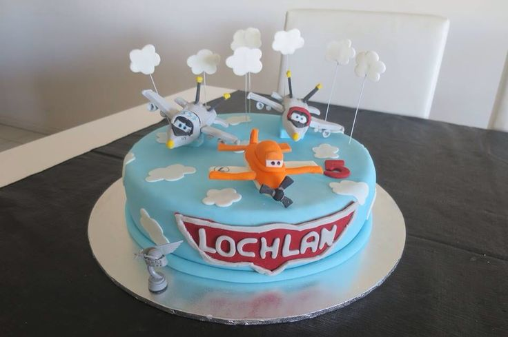 Disney Planes Cake with Bravo, Echo and Dusty