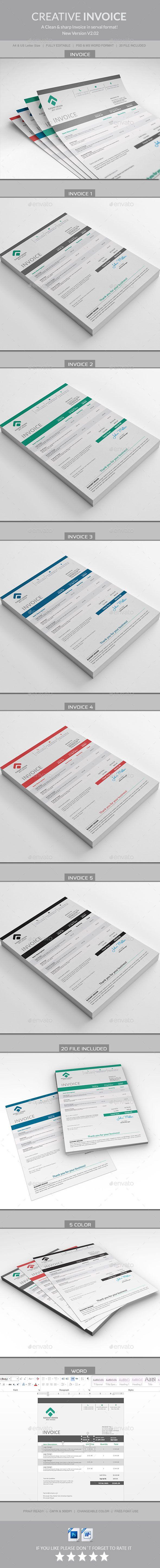 Invoice Template #design Download…